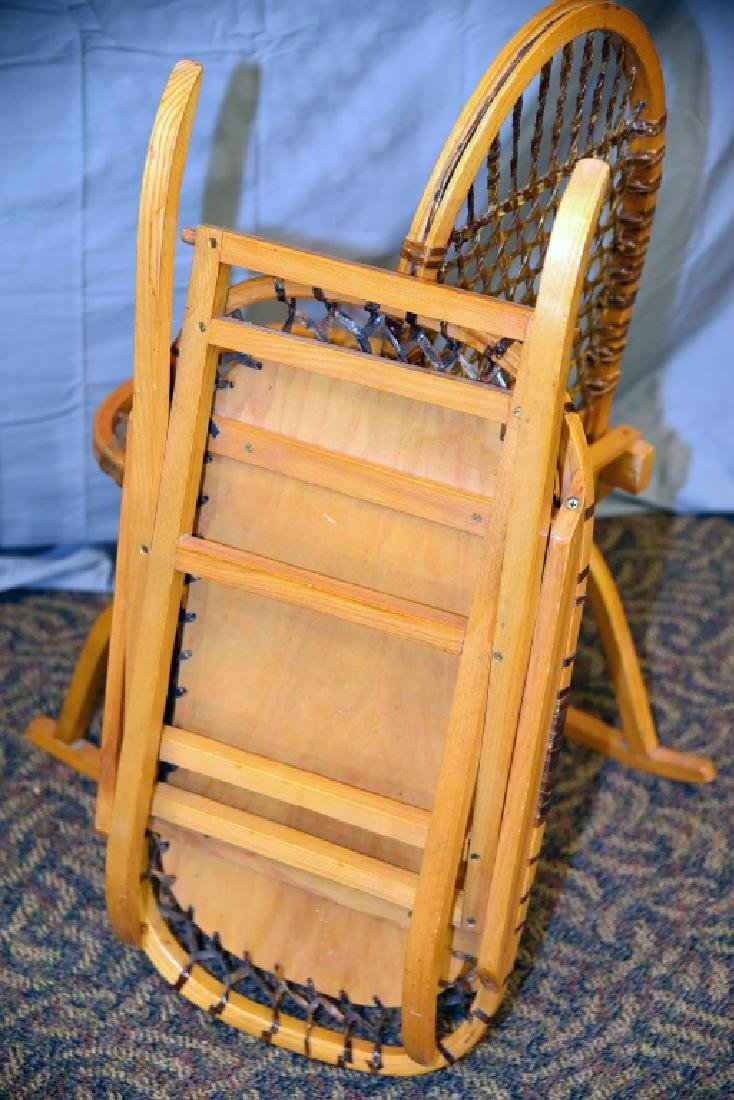 Vermont Tubbs Snowshoe Chair and End Table - 7