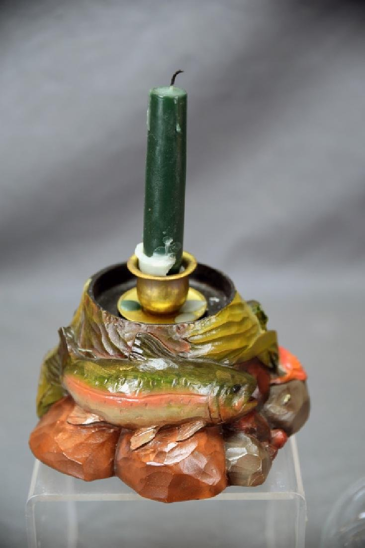 Big Sky Carvers Trout Candle Hurricane - 5