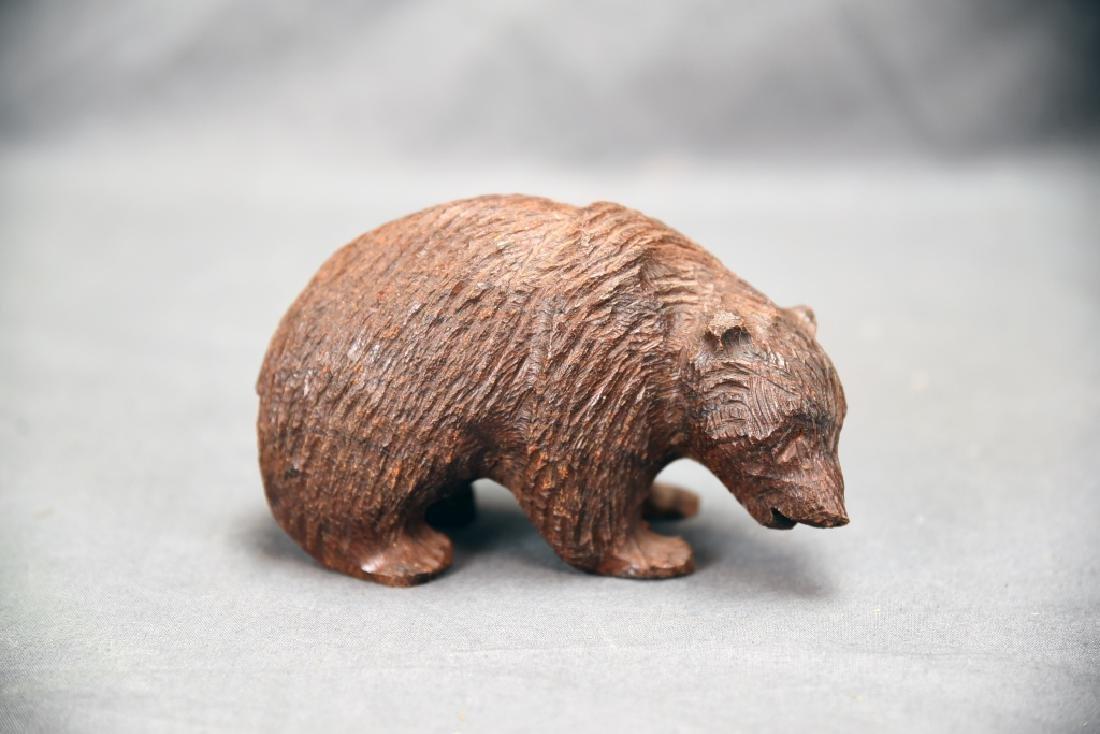 3 Vintage Carved Wooden Bears - 2