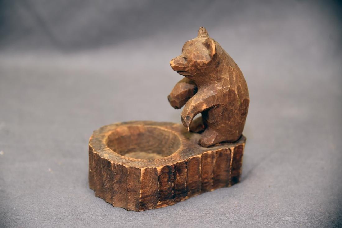3 Vintage Carved Wooden Bears - 7