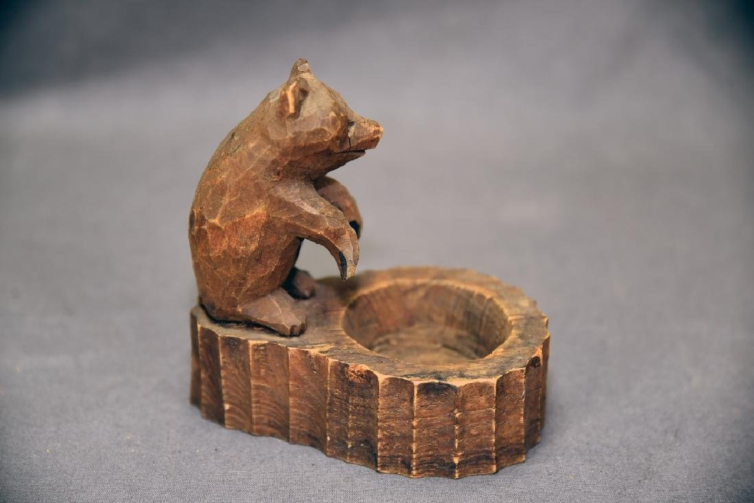 3 Vintage Carved Wooden Bears - 8