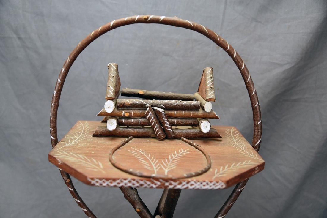 Vintage Twig Smoking Stand - 4