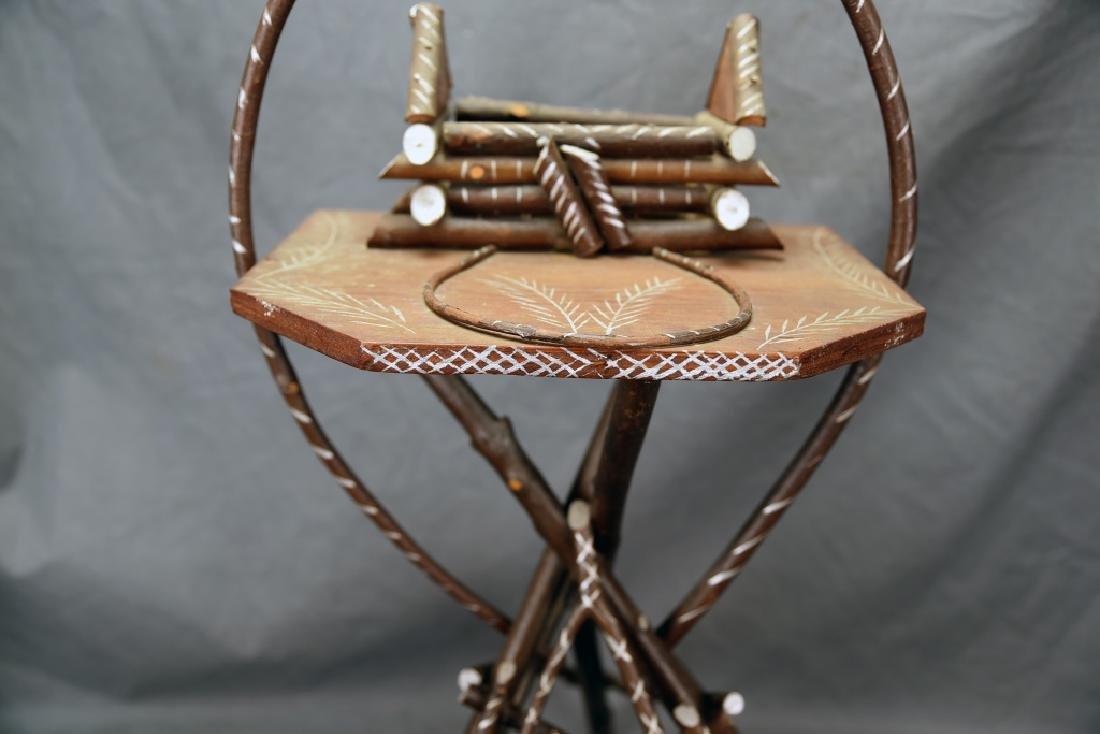 Vintage Twig Smoking Stand - 5