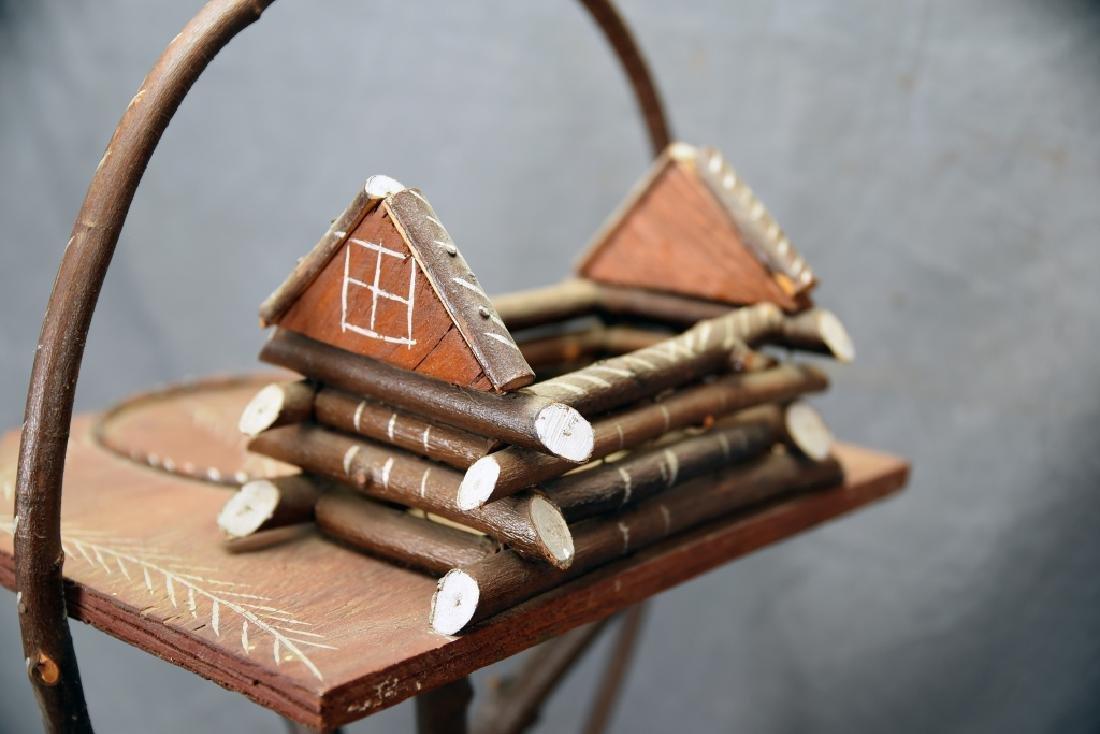 Vintage Twig Smoking Stand - 7