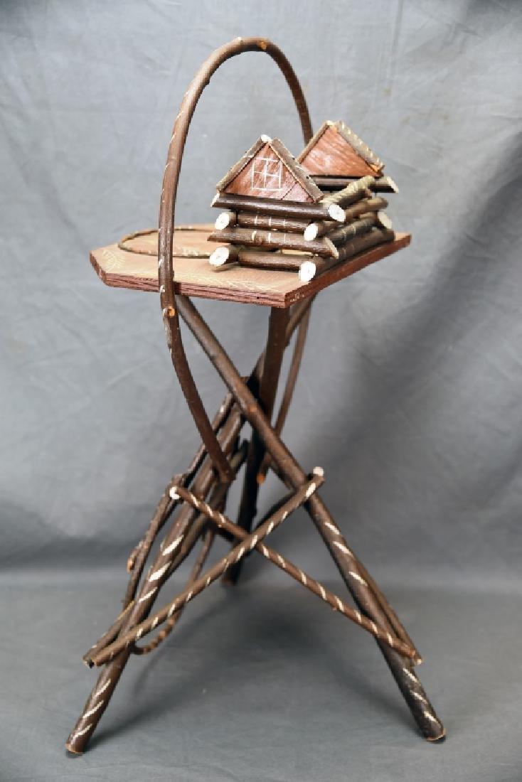 Vintage Twig Smoking Stand - 8