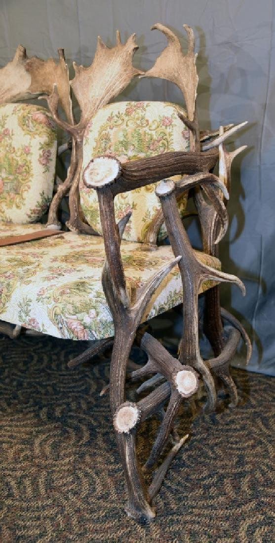 Vintage Antler Lodge 3 Seat Couch - 10