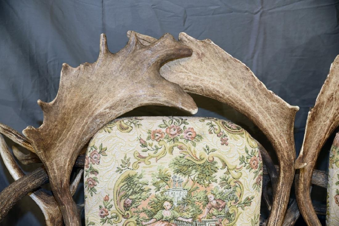 Vintage Antler Lodge 3 Seat Couch - 7