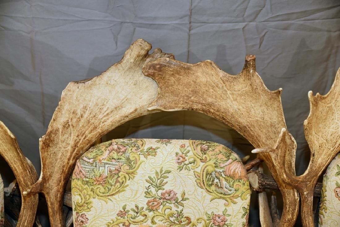 Vintage Antler Lodge 3 Seat Couch - 8