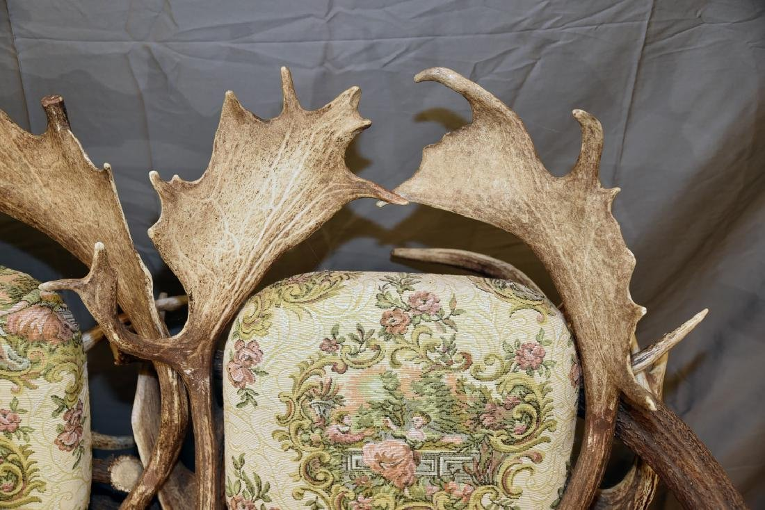 Vintage Antler Lodge 3 Seat Couch - 9