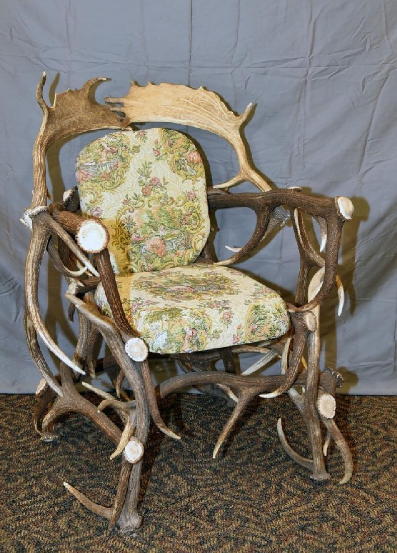 Vintage Antler Lodge Armchair