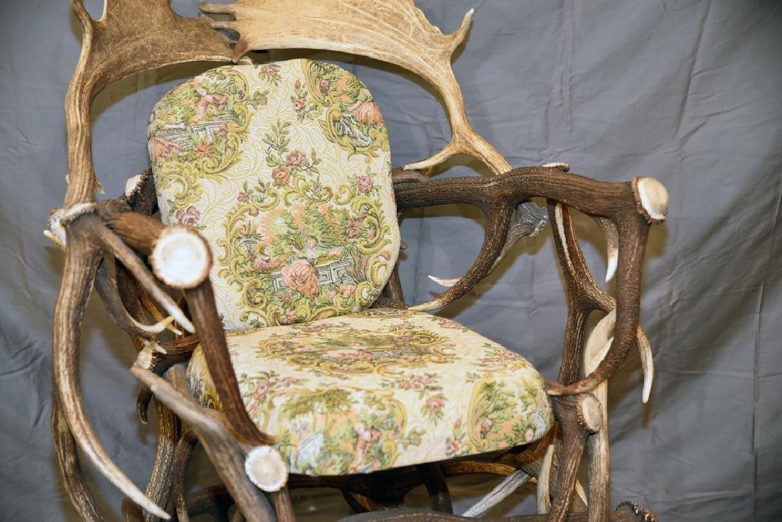 Vintage Antler Lodge Armchair - 3