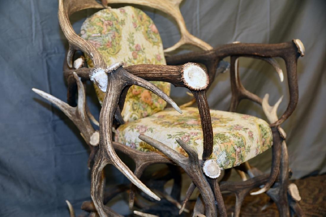 Vintage Antler Lodge Armchair - 7