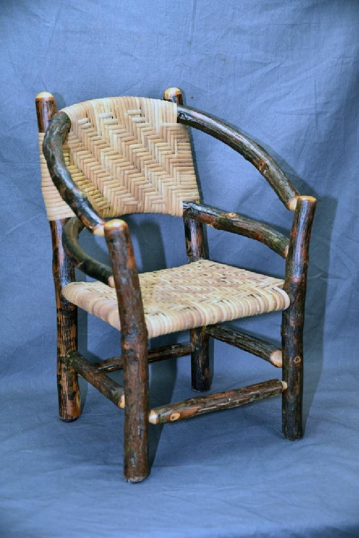 Branch and Woven Reed Child's Chair
