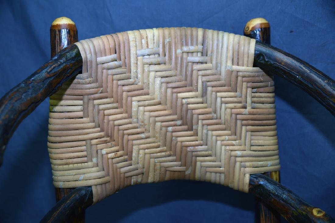 Branch and Woven Reed Child's Chair - 2
