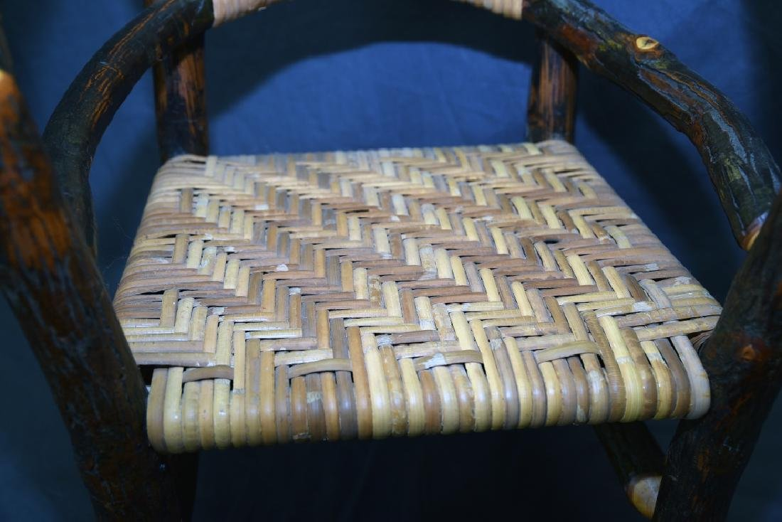 Branch and Woven Reed Child's Chair - 3