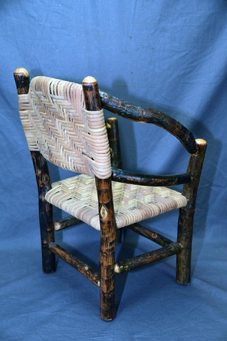 Branch and Woven Reed Child's Chair - 4