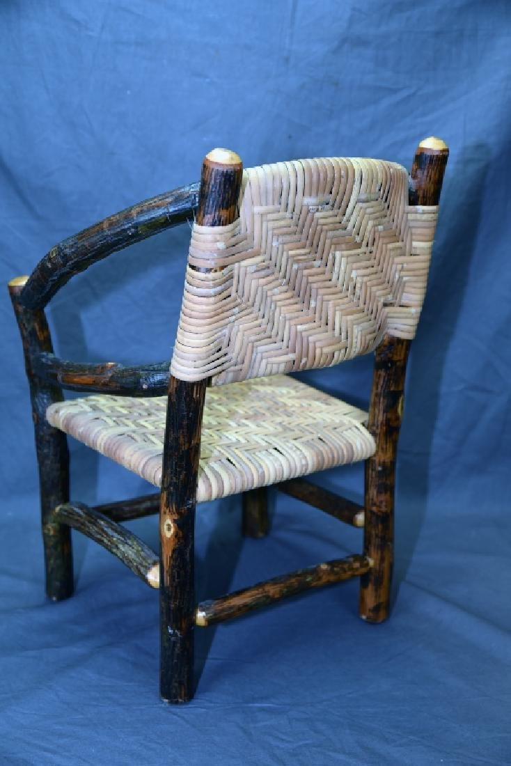 Branch and Woven Reed Child's Chair - 5