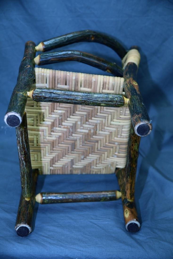 Branch and Woven Reed Child's Chair - 6