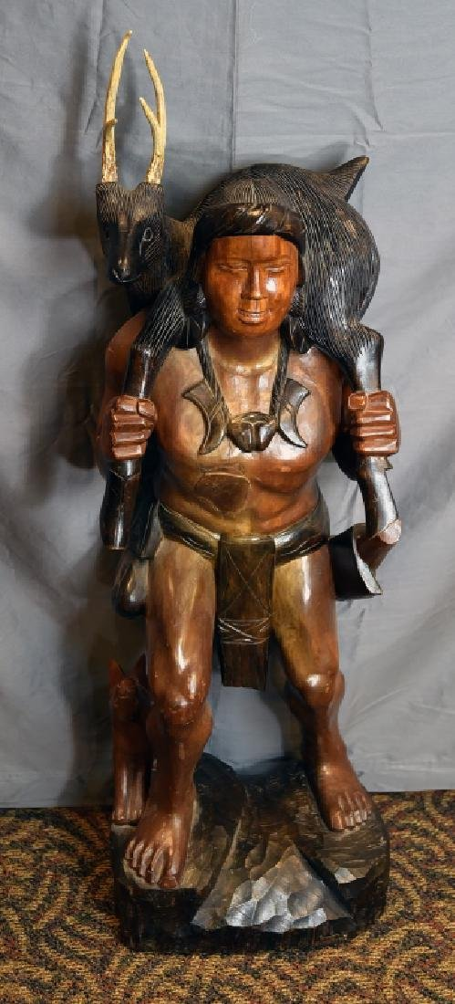 Large Native American Carved Figure