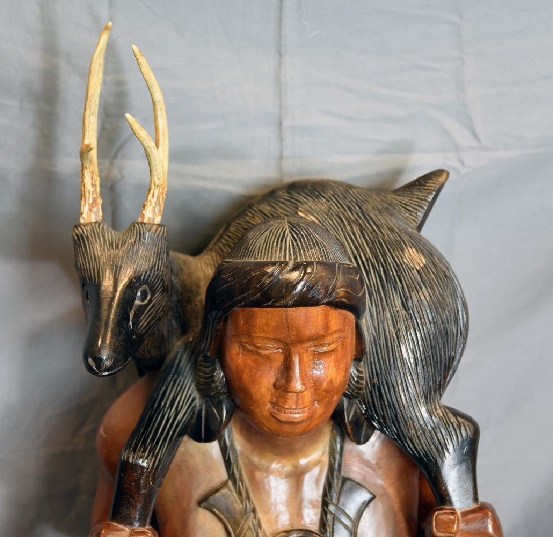 Large Native American Carved Figure - 3