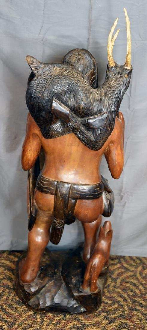 Large Native American Carved Figure - 7