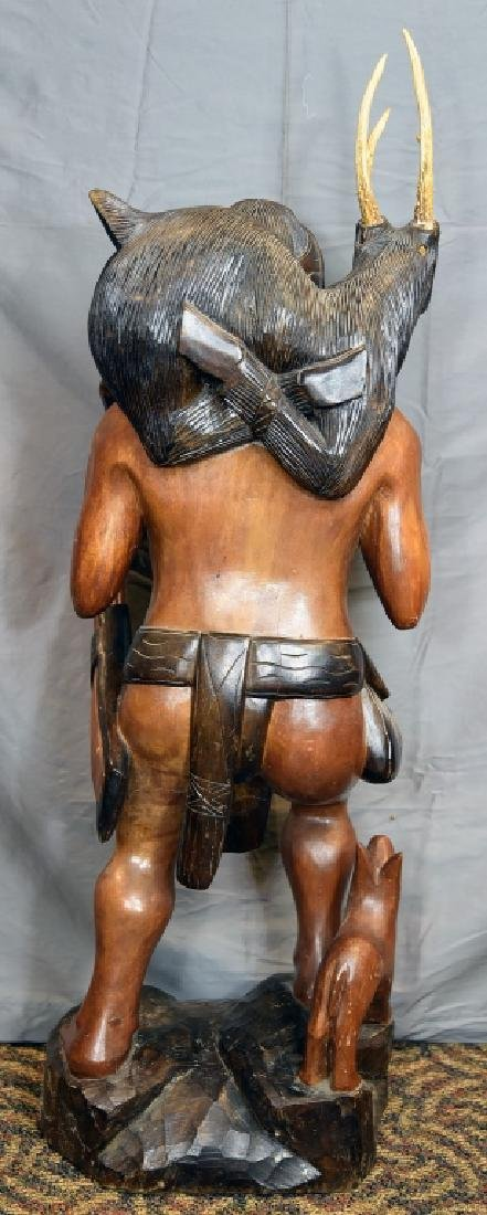 Large Native American Carved Figure - 8