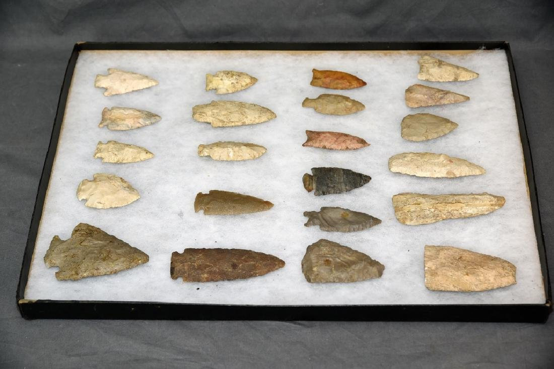 Native American Arrowhead Collection 22 Points