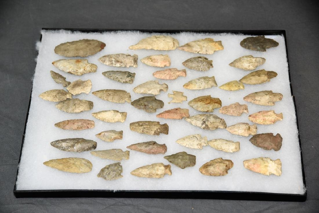 Native American Arrowhead Collection 44 Points