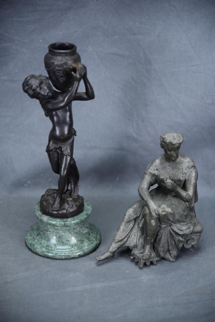 Pair of Small Figural Bronze Sculptures
