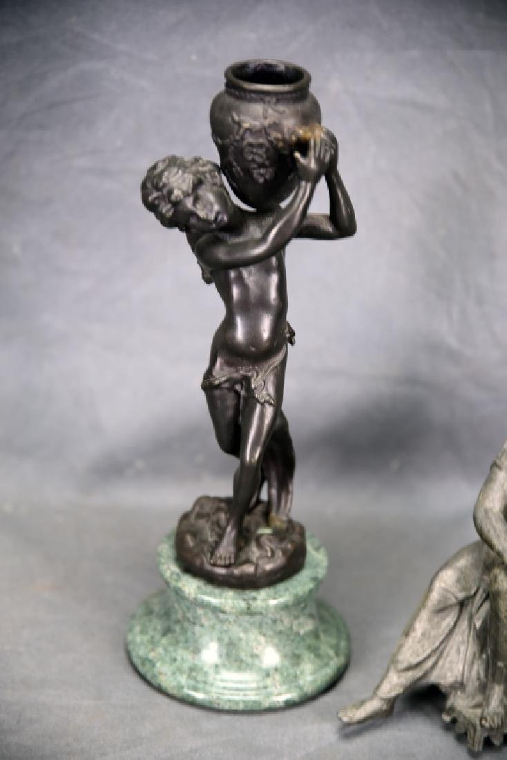 Pair of Small Figural Bronze Sculptures - 2