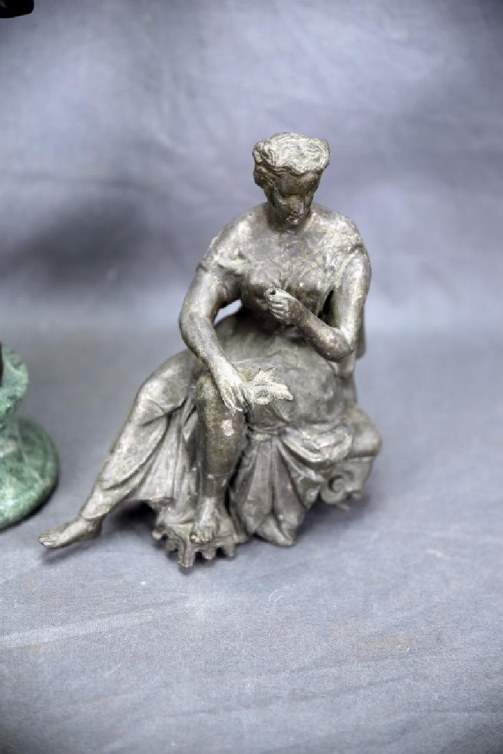 Pair of Small Figural Bronze Sculptures - 3