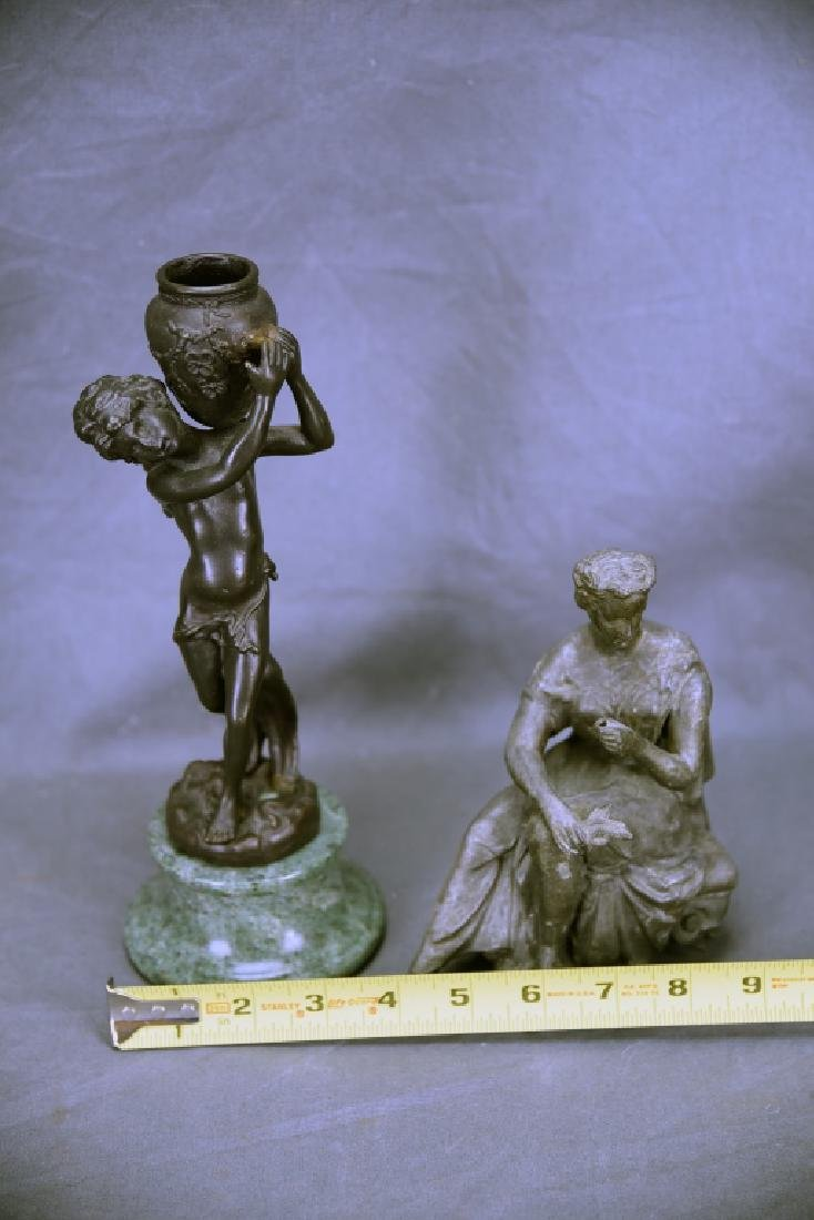 Pair of Small Figural Bronze Sculptures - 4