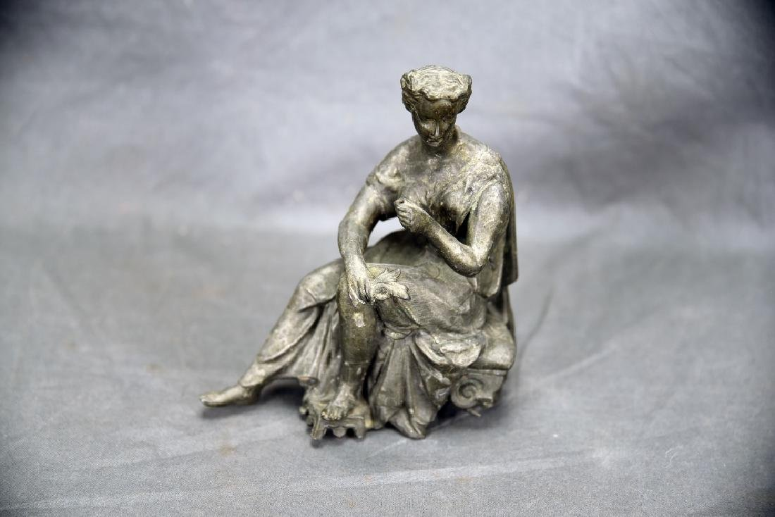 Pair of Small Figural Bronze Sculptures - 8