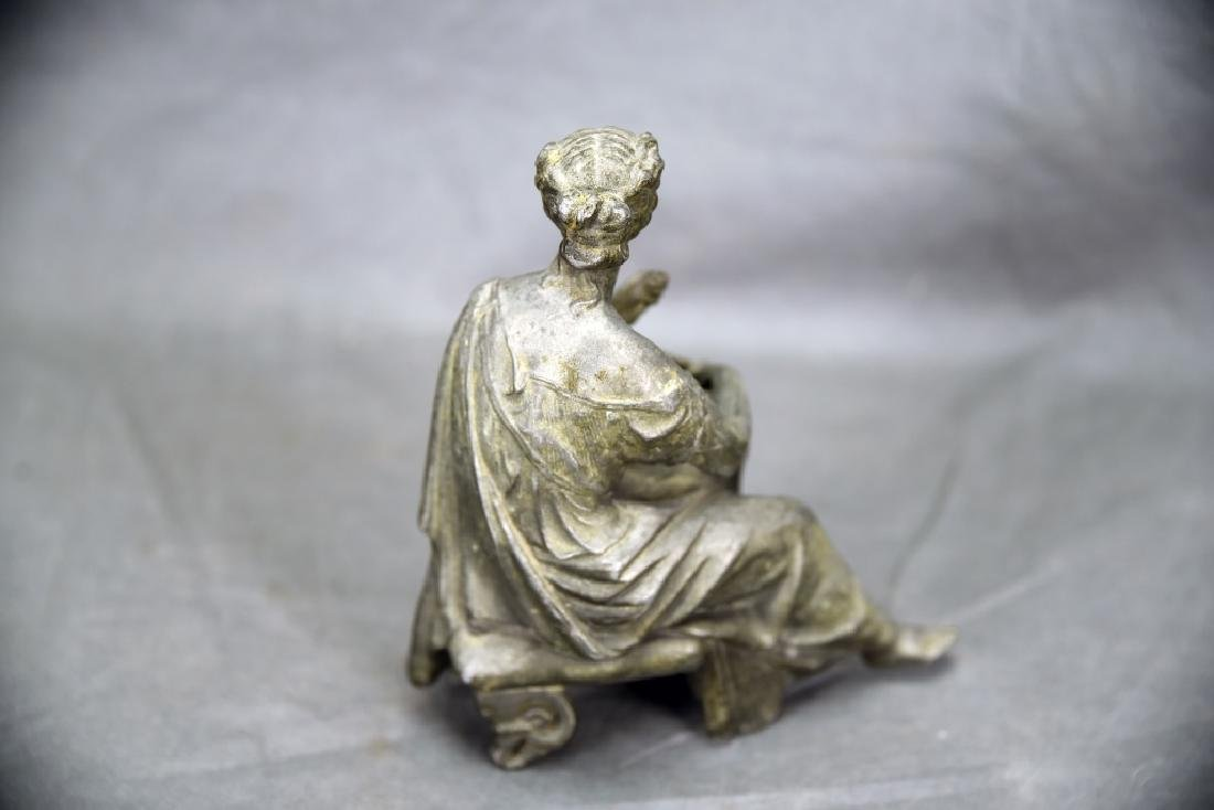 Pair of Small Figural Bronze Sculptures - 9