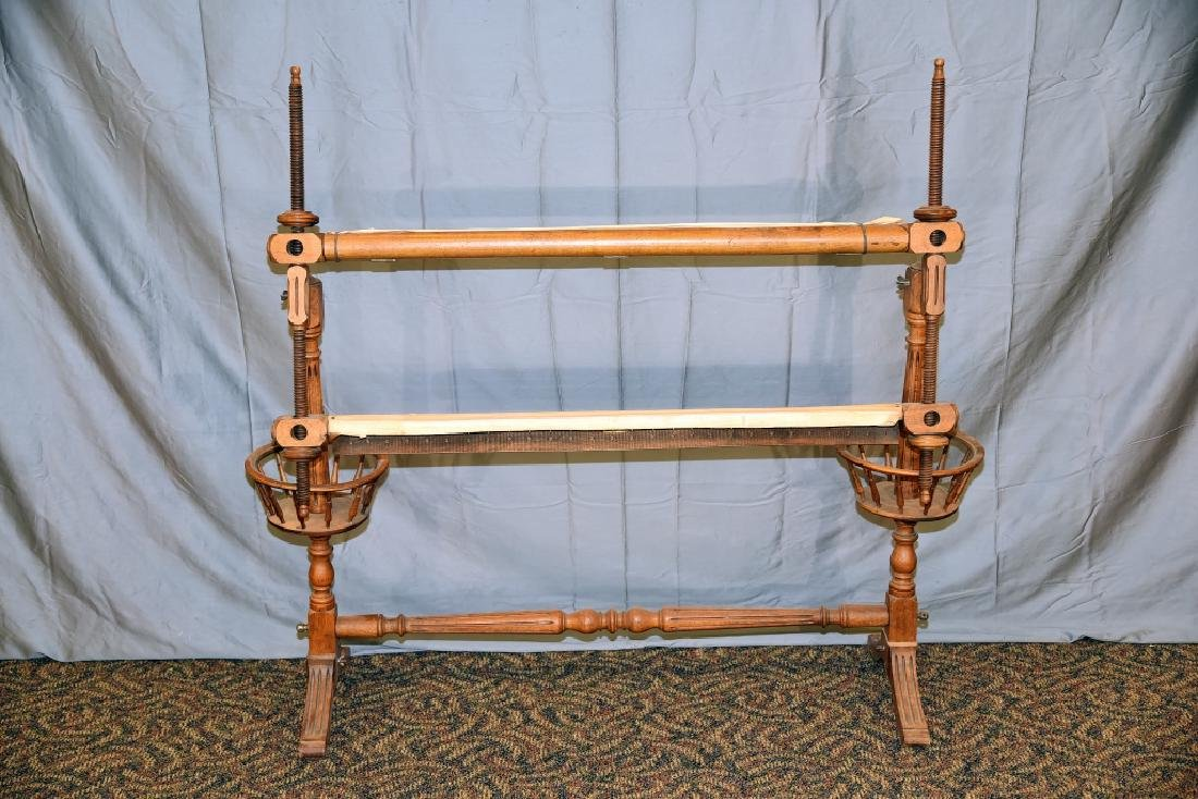 Rare Oak Quilting Frame Circa Early 1900s