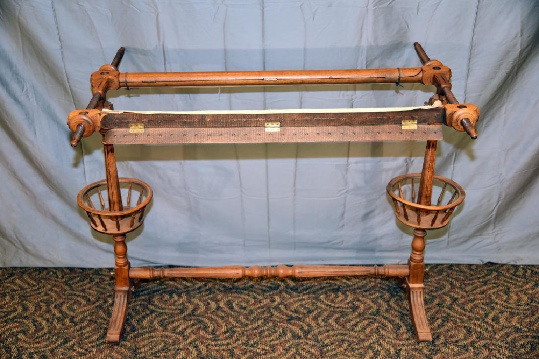 Rare Oak Quilting Frame Circa Early 1900s - 6