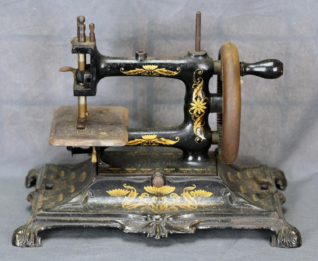 Hand Crank Cast Iron Sewing Machine by Muller