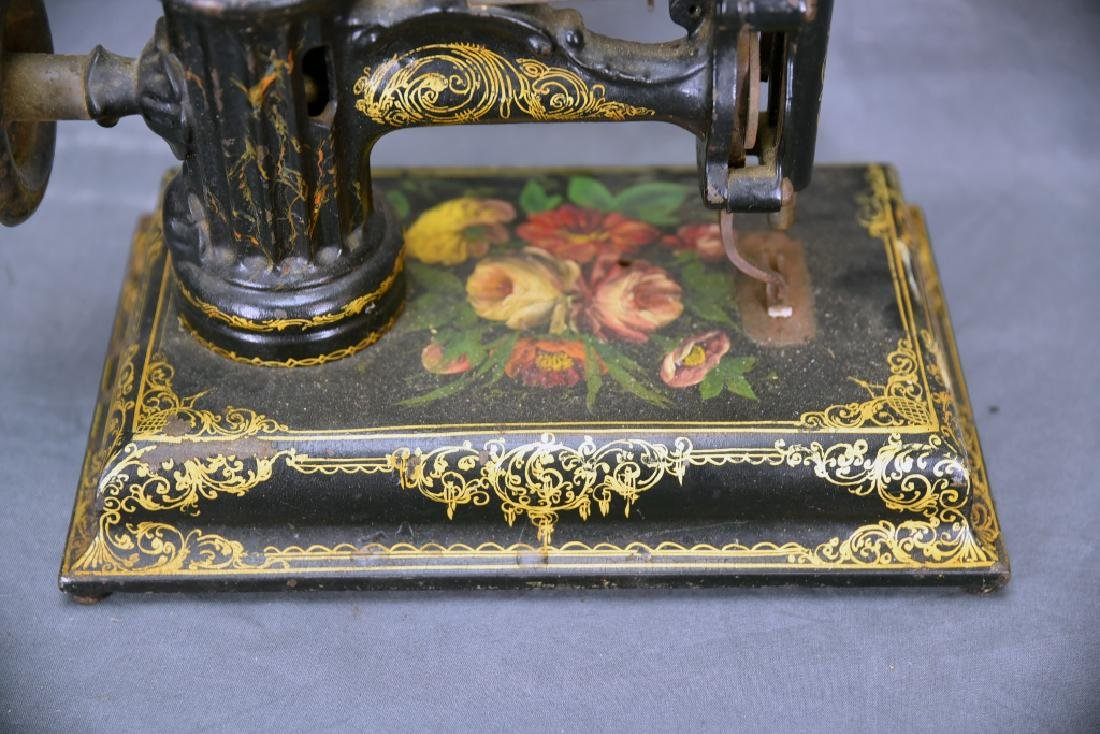 Ornate Cast Iron Table Top Sewing Machine - 2