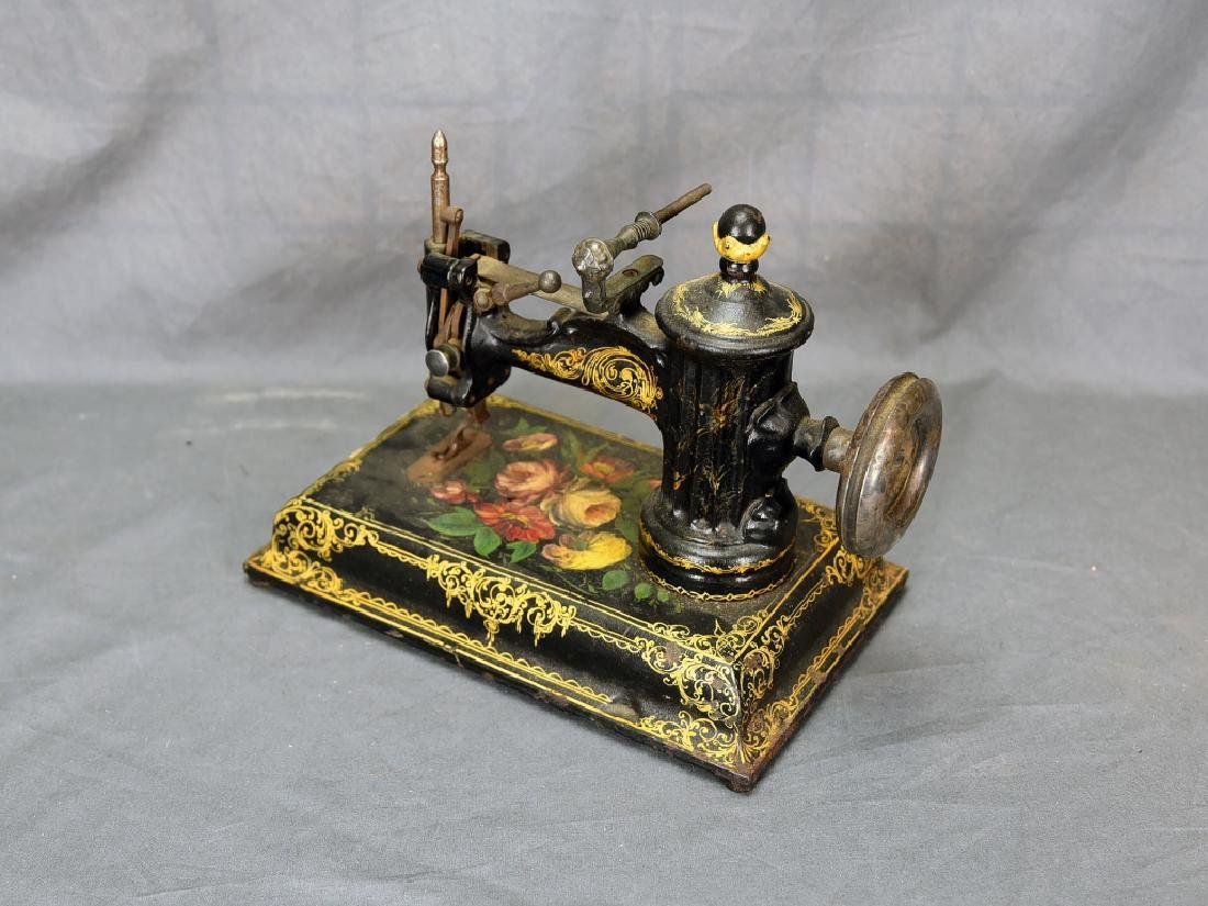 Ornate Cast Iron Table Top Sewing Machine - 5