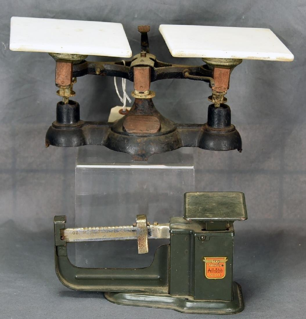 2 Antique Balance Scales Airmail & Iron Balance