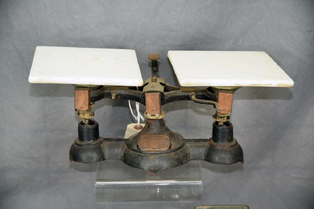 2 Antique Balance Scales Airmail & Iron Balance - 2