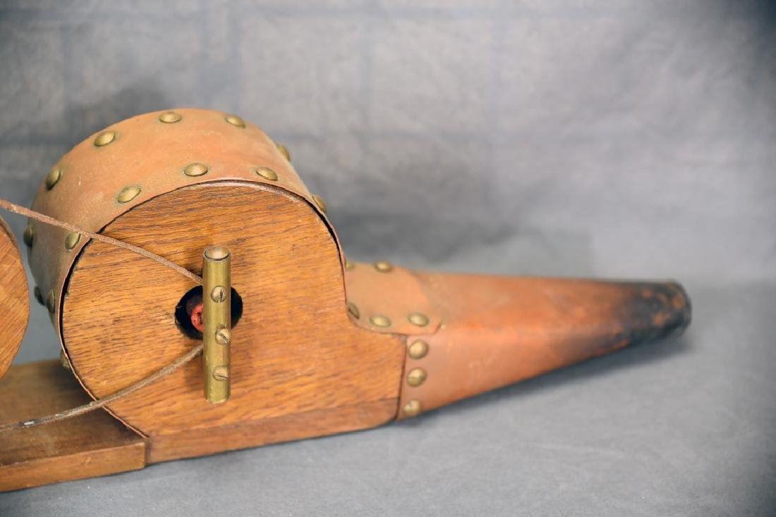 Hand Made Copper and Oak Crank Blower - 3