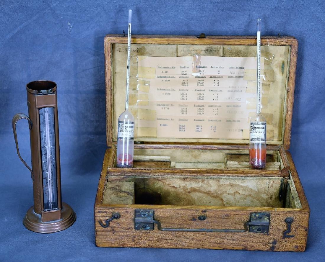 1940s Beer Making Hydrometer Kit