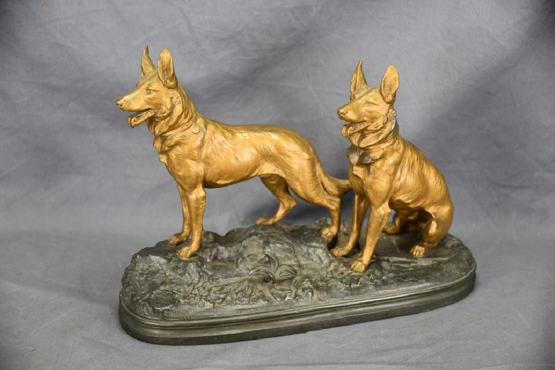 Pair of Cast Working Dogs