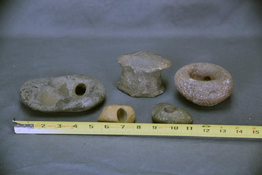 4 Native American Stone Metate Grinding Stones - 2