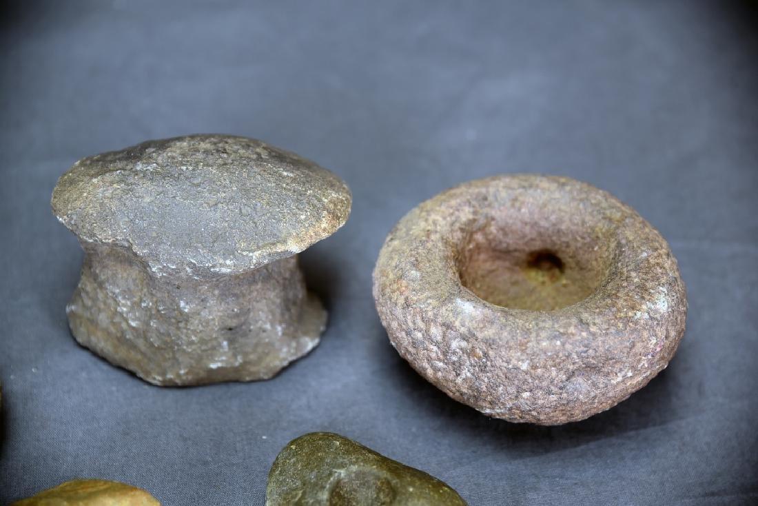 4 Native American Stone Metate Grinding Stones - 5