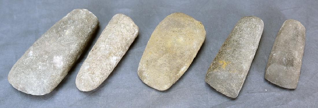 5 Native American Stone Celts