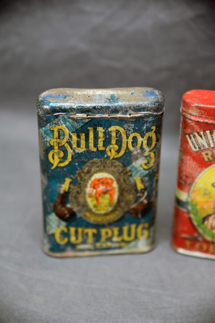3 Antique Tobacco Pocket Tins Bull Dog, Dial + - 2