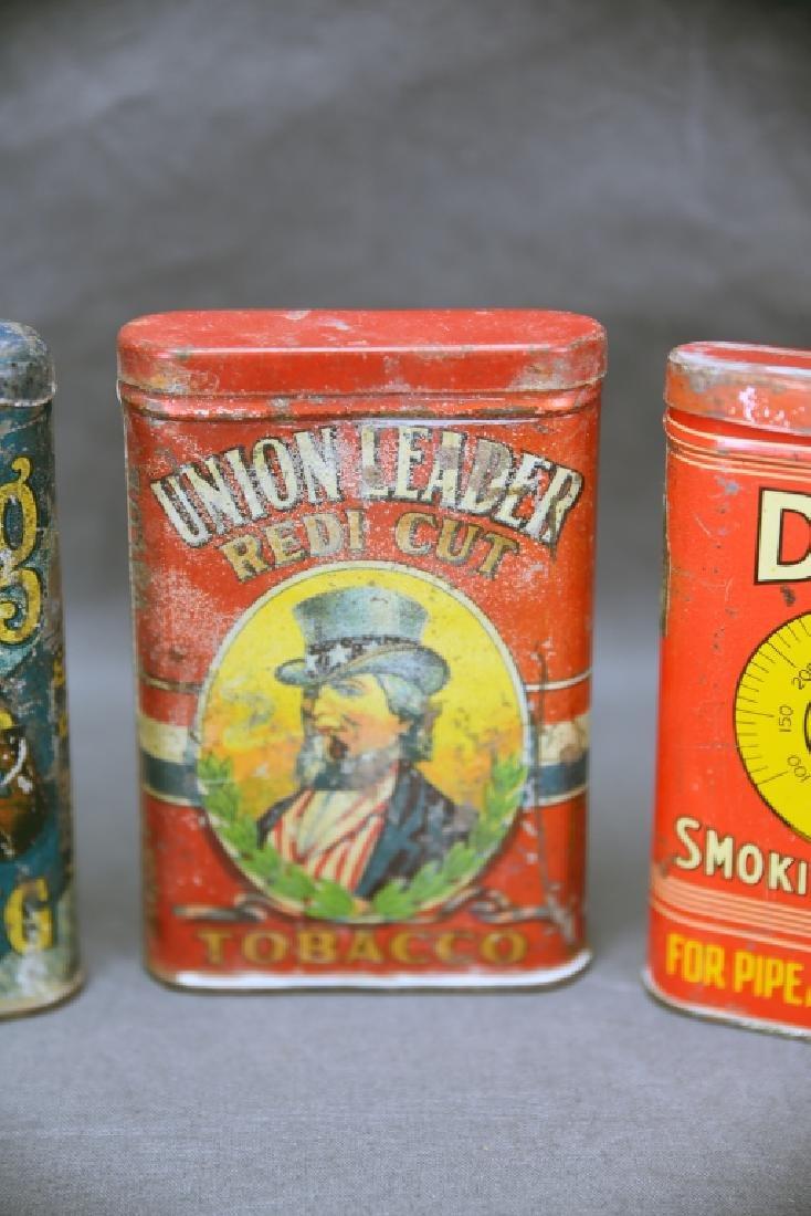 3 Antique Tobacco Pocket Tins Bull Dog, Dial + - 3