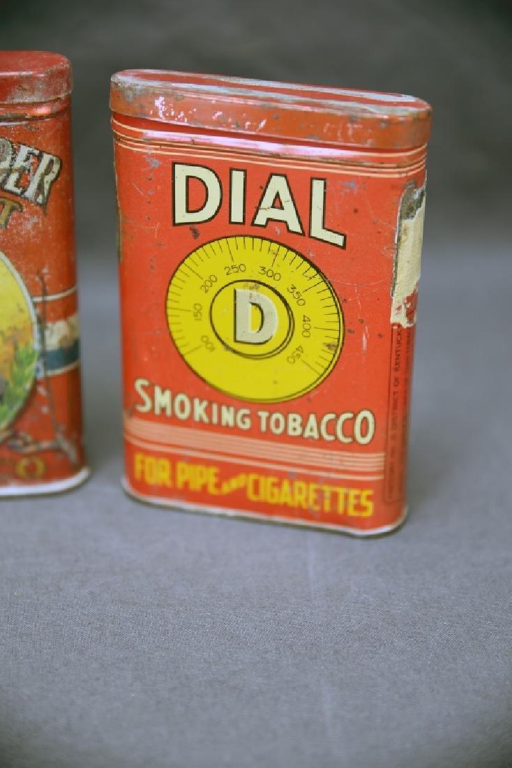 3 Antique Tobacco Pocket Tins Bull Dog, Dial + - 4